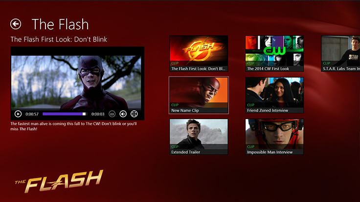 The CW Network Windows 8 App