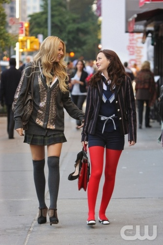 &quot;Hi, Society&quot;-- Pictured  (l-r) Blake Lively as Serena and Leighton Meester as Blair  in Gossip Girl on The CW. Photo Eric Leibowitz/The CW  2007 The CW Network, LLC.  All Rights Reserved 