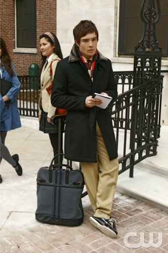 """The Blair Bitch Project"" -- Pictured Ð Ed Westwick as Chuck in Gossip Girl on The CW PHOTO CREDIT:  Giovanni Rufino/THE CW ©2008 THE CW NETWORK, ALL RIGHTS RESERVED."