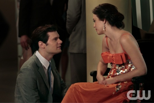"""All The Pretty Sources"" GOSSIP GIRL Pictured (L-R) Hugo Becker as Louis and Leighton Meester as Blair Waldorf PHOTO CREDIT:  GIOVANNI RUFINO/THE CW © 2011 THE CW Network, LLC.  All Rights Reserved."