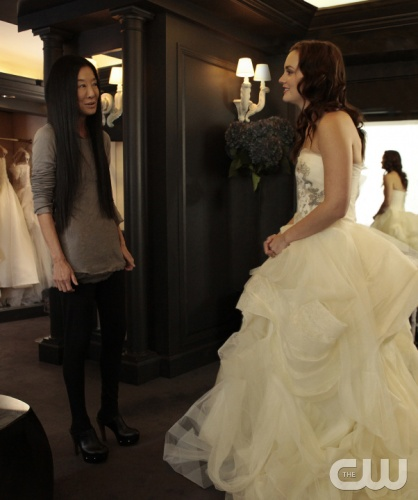 &quot;The End Of The Affair&quot; GOSSIP GIRL Pictured (L-R) Vera Wang as herself and Leighton Meester as Blair Waldorf PHOTO CREDIT:  GIOVANNI RUFINO/THE CW &copy; 2011 THE CW Network, LLC.  All Rights Reserved.