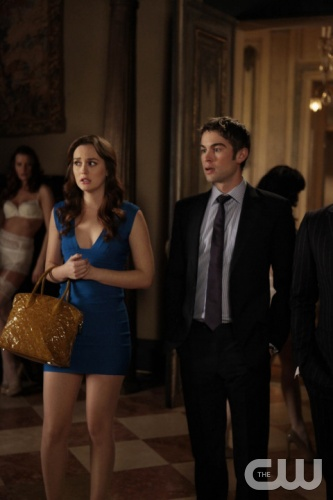 Gossip Girl &quot;Raiders Of The Lost Art&quot; Pictured (l-r) Leighton Meester as Blair Waldorf and Chace Crawford as NatePHOTO CREDIT: GIOVANNI RUFINO / THE CW &copy; 2011 THE CW NETWORK. ALL RIGHTS RESERVED