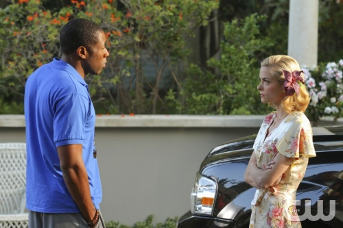 """Homecoming and Coming Home""-- Pictured (L-R) Cress Williams as Lavon Hayes and Jaime King as Lemon Breeland in HART OF DIXIE on THE CW. Photo Credit: Scott Humbert/The CW©2011 The CW Network, LLC. All Rights Reserved"