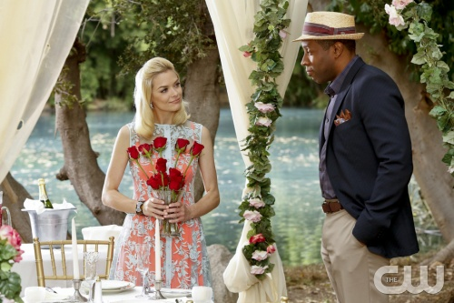 Hart of Dixie -- Sparks Fly -- Pictured (L-R): Jaime King as Lemon and Cress Williams as Lavon -- Image Number: HA209b_0377b.jpg -- Photo: Greg Gayne/The CW -- &copy; 2012 The CW Network, LLC. All rights reserved.