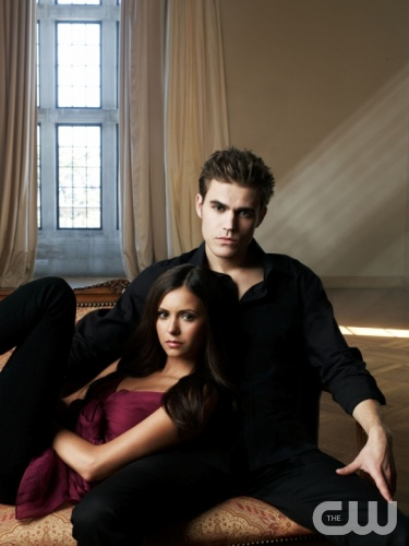 The Vampire Diaries  Pictured: Paul Wesley as Stefan, Nina Dobrev as Elena  Photo Credit: Andrew Eccles / The CW  &copy; 2009 The CW Network, LLC. All Rights Reserved.