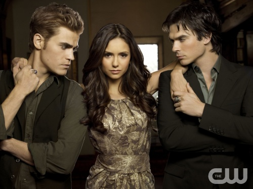 The Vampire Diaries Pictured: Paul Wesley as Stefan, Nina Dobrev as Elena, Ian Somerhalder as Damon Photo Credit: Art Streiber / The CW &copy; 2010 The CW Network, LLC. All Rights Reserved.
