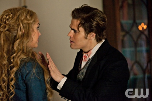 """The Dinner Party"" - Arielle Kebbel as Lexi and Paul Wesley as Stefan"