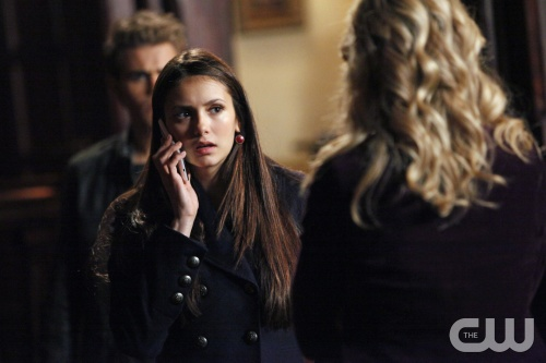 &quot;The Murder of One&quot;-LtoR: Paul Wesley as Stefan, Nina Dobrev as Elena, and Candice Accola as Caroline on THE VAMPIRE DIARIES on The CW. Photo: Quantrell D. Colbert/The CW &copy;2012 THE CW NETWORK. ALL RIGHT RESERVED.
