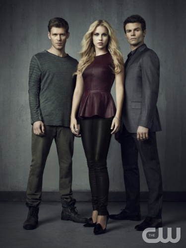 THE VAMPIRE DIARIES  Pictured (L-R): Joseph Morgan as Klaus, Claire Holt as Rebekah, and Daniel Gillies as Elijah.  Photo: Justin Stephens/The CW.  Image Number: VD4_3ShotOriginals_1820rd.jpg.  &copy; 2012 The CW Network, LLC. All rights reserved.