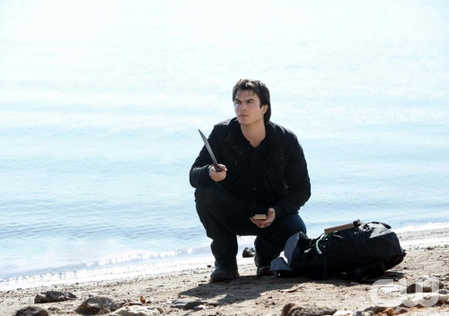 "The Vampire Diaries -- ""Into the Wild"" -- Pictured: Ian Somerhalder as Damon -- Image Number: VD413b_0028.jpg -- Photo: Tina Rowden/The CW -- © 2013 The CW Network, LLC. All rights reserved."
